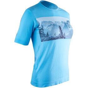 Compressport Training - Camiseta Running Mujer - Mont Blanc Edition azul